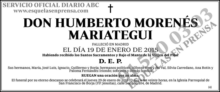 Humberto Morenés Mariategui